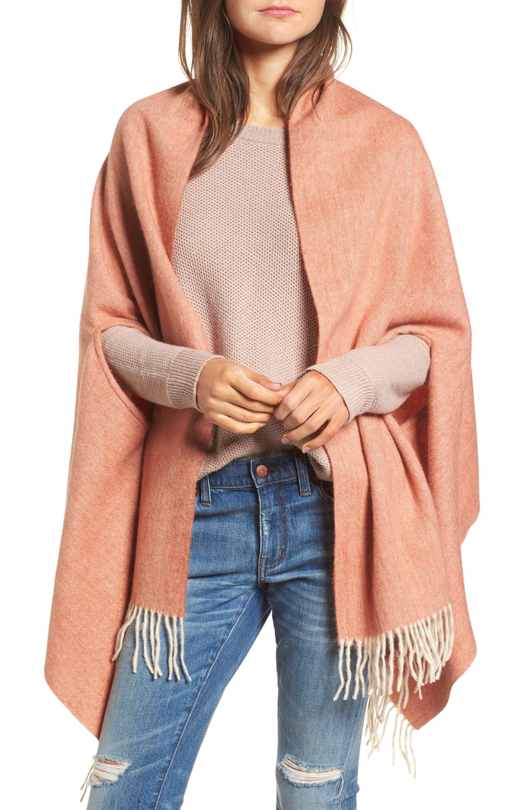 madewell fringe cape scarf