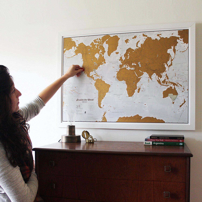 scratch off world map