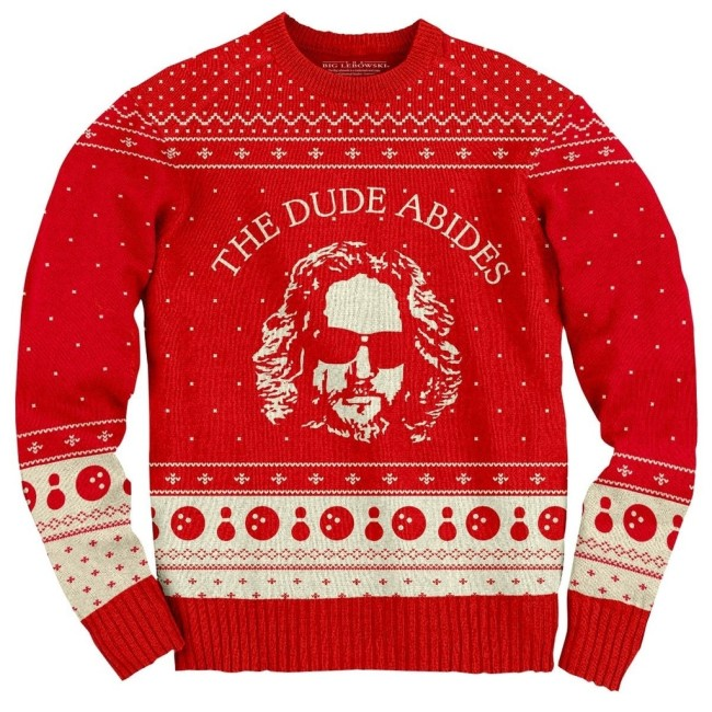 dude abides christmas sweater