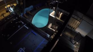 NSFL: Daredevil Attempted To Jump From A Roof Into A Pool And Missed – OMG! His Feet Are MANGLED!!!