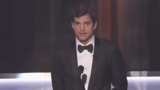 Ashton Kutcher Opens 'The SAG Awards' By Firing A Shot At President Trump Over Travel Ban