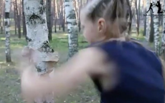 boxing prodigy punches tree