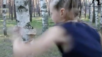 9-Year-Old Boxing Prodigy 'Punches Like A Girl' And Almost Cuts Down A Birch Tree With Her Knuckles, Is Terrifying