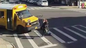 If You Don't Believe In God, Explain To Me How This Lady Survived Getting Drilled By This Bus In A Cross Walk
