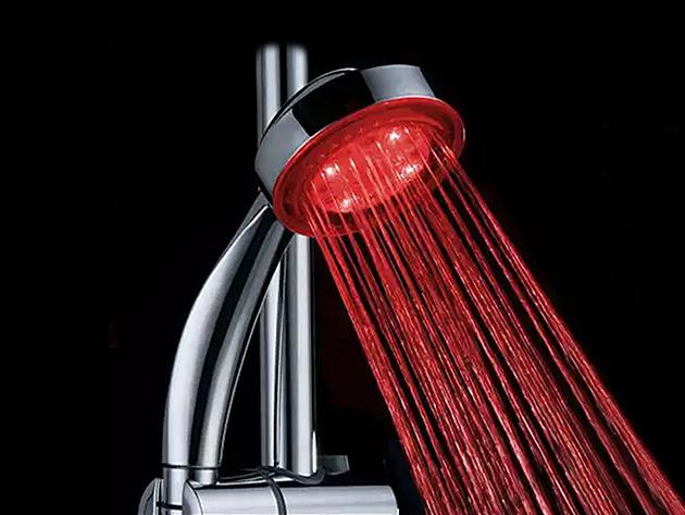 Color-Changing LED Shower Head