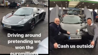 Two Bros Drive Around In A McLaren MP4 To Convince People That They Won The Lottery