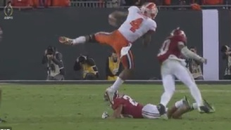 Clemson's Deshaun Watson Gets Helicoptered By Alabama Defense During National Championship Game