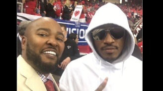 Future Is On The Sidelines At The Falcons-Seahawks Game To Root Against Russell Wilson