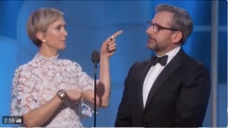 Steve Carell And Kristen Wiig's Bit At Last Night's Golden Globes Actually Made Me Laugh Out Loud
