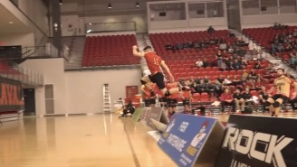 This Insane Match Point Is The First And Only Male Volleyball Clip Worth Watching (Mind = Blown)