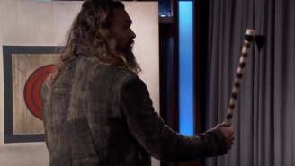 Here's Jason Momoa Reminds Us All What It Means To Be A Man While Throwing Axes And Drinking Guinness