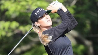 LPGA Golfer Jaye Marie Green Hitting Balls On The Beach In A Bikini Is An Excellent Way To Practice