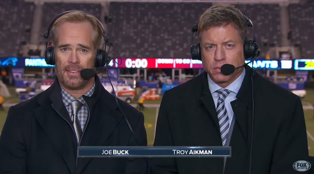 Joe Buck and Troy Aikman caught mocking military flyovers on hot mic