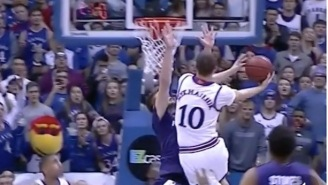 Kansas Got Away With An Egregious Travel To Beat Kansas State At The Buzzer And The Refs Must've Had Money On The Game