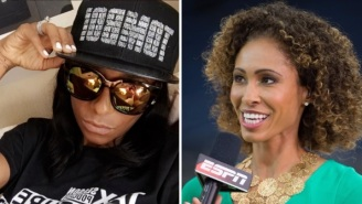 Miko Grimes Wants To Fight Sage Steele After Steele Whined About Protestors Messing Up Her Super Bowl Travel Plans