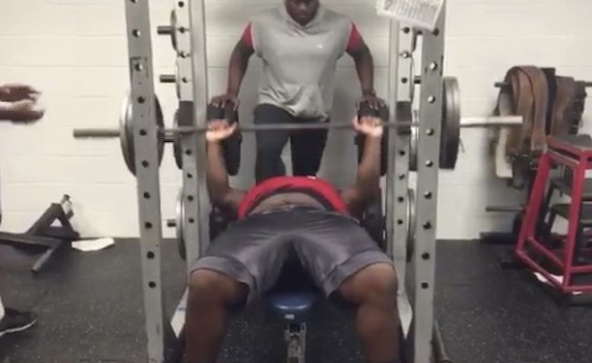 Robert Cooper benches 225-pound 31 times