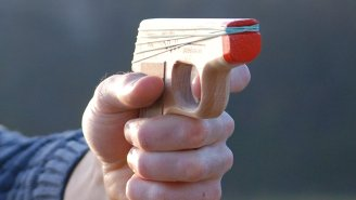 PPK Rubber Band Gun Takes Office Wars To The Extreme