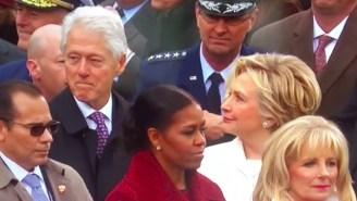 Bill Clinton Got Caught Checkin' Out Ivanka Trump At The Inauguration