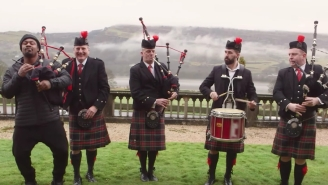 Marshawn Lynch Went To Houston, Scotland To Ask People About The Super Bowl And Sensually Dance To Bagpipes