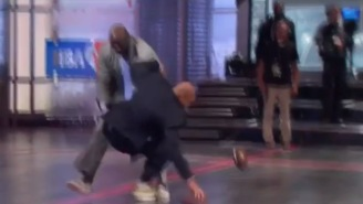 Shaq Tackling Charles Barkley After Catching A Pass From Randy Moss Is The Funniest Thing You'll See Today