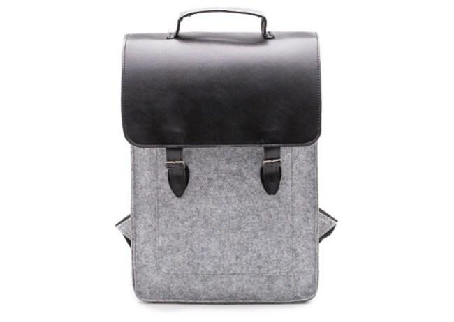 Something Sleek Felt Backpack
