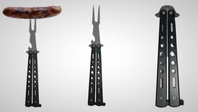 Tactical Folding BBQ Fork with Bottle Opener