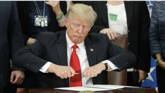 This Photoshop Battle Of Donald Trump Trying To Put A Cap On A Pen Is Way Funnier Than It Should Be