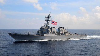 U.S. Navy Destroyer Fires Warning Shots At Iranian Revolutionary Guard Vessels