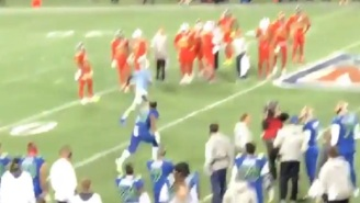 Watch Ezekiel Elliott Chase Down And Tackle Fan Who Ran Onto The Field At The Pro Bowl