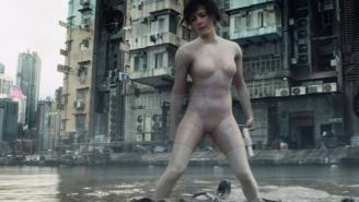 Watch Scarlett Johansson Come Face-To-Face With Cyborg Villain Kuze In New 'Ghost In The Shell' Trailer