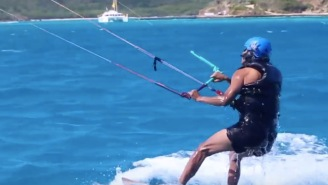 Richard Branson And Barack Obama Had A KiteBoarding Contest To See Who Could Stay Up On The Board Longer