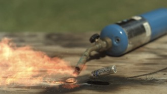 These Batteries Exploding In Slow Motion Look Like Tiny Space Rockets And It's Trippy As Hell