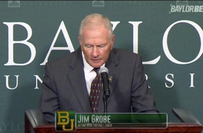 Baylor Football Coach Jim Grobe Necktie