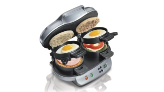 Why Make One When You Can Make Two? This Dual Breakfast Sandwich Maker Is Under $25 Right Now