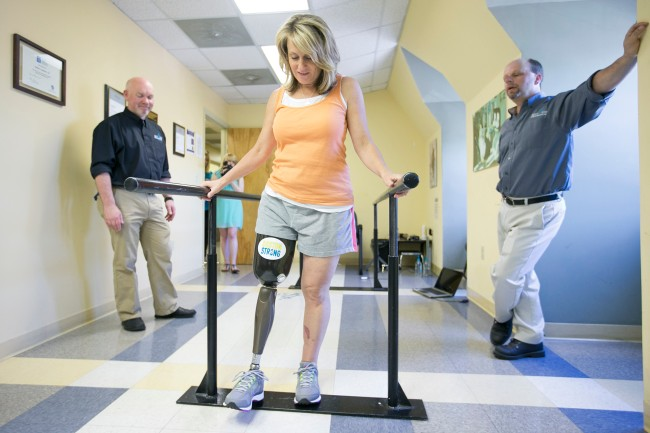 Marathon Victims Take First Steps Down Uncertain Path