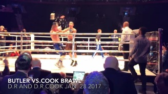 Boxer Wins Fight Only To Get Knocked The F*ck Out When Someone Throws A Bucket Of Ice Into The Ring