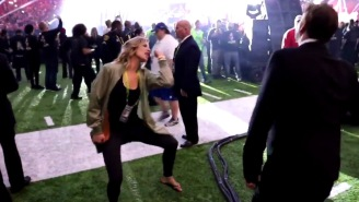 FS1's Charissa Thompson Dancing Her Ass Off During Lady Gaga's Super Bowl Performance Is Tremendous
