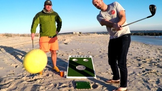 Some Bro Genius Created An Epic New Party Game That Combines Cornhole And Golf