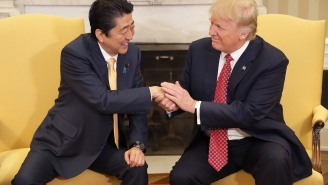 Donald Trump Shook The Japanese Prime Minister's Hand For A Painfully Awkward 19 Seconds, PM Rolls Eyes After