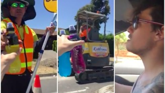 I Love These Aussie Bros Who Handed Out Ice Cold Powerades To Road Construction Workers