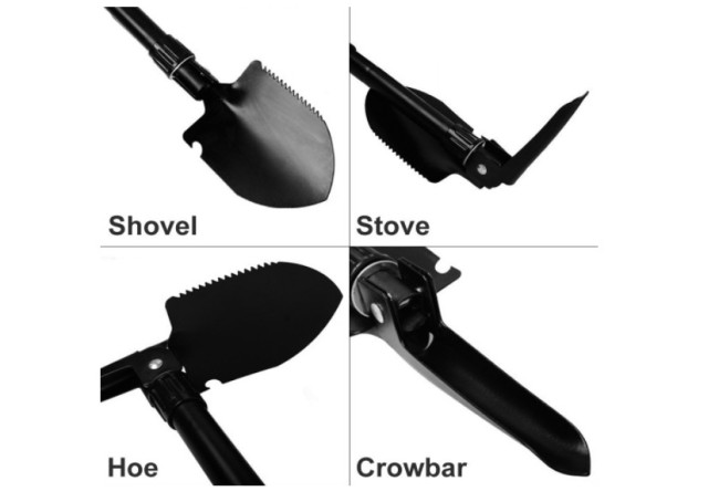 folding camping shovel multi-tool