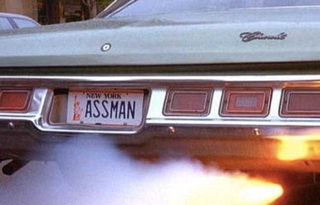 Seinfeld Assman License Plate