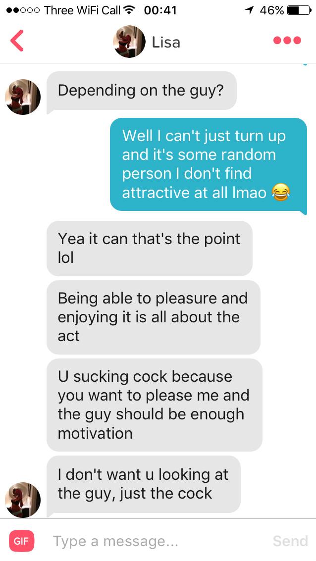Insane Tinder Fantasy Request