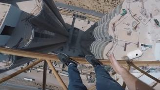 Get Ready To Soil Your Pantaloons Watching This Nutbag Daredevil Walk Between Towering Skyscrapers
