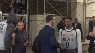 Kevin Durant Walked Past Russell Westbrook Before All-Star Practice And It Was Super Awkward