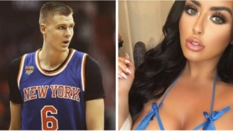 Kristaps Porzingis Shoots His Shot With Abigail Ratchford On A Particularly Spicy Instagram Photo, She Responds