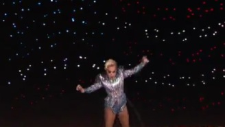 Lady Gaga Opened The Super Bowl Halftime Show By Jumping Off The Roof Of NRG Stadium