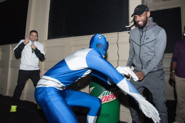 Kyrie Irving at Mountain Dew Courtside HQ