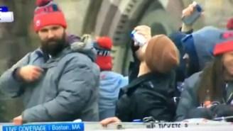 Pats' Chris Long Defies Boston Mayor's 'No Public Drinking' Order At Championship Parade By Chugging Some Natty Ice