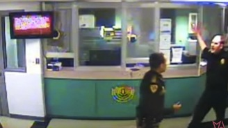 Cop Fight? COP FIGHT! Deputies Throwing Punches And Choking Each Other During Brawl Inside Of Jail